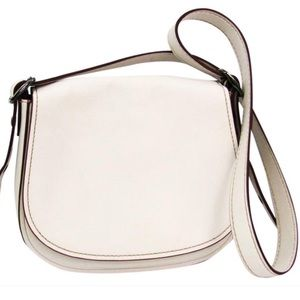 Coach Bags - COACH Chalk Glovetanned Leather Saddle Crossbody